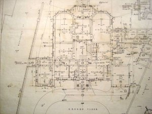 Ground floor plan of proposed legation house, 1924.