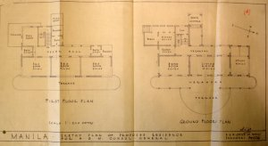 James Wynne's sketch proposal for new residence, 1936.