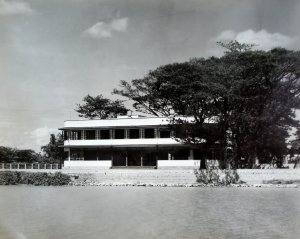 Consul-general's new residence,from the river, 1938.
