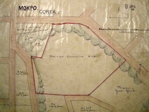 Mokpo: plan of never-developed consular site, 1899.