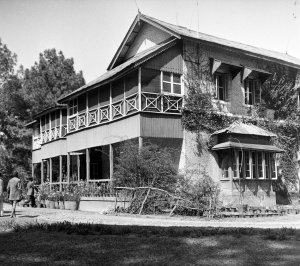 First Secretary house, on part of site retained from old compound, 1954.