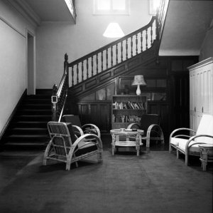 No.1 House stair hall, 1956.