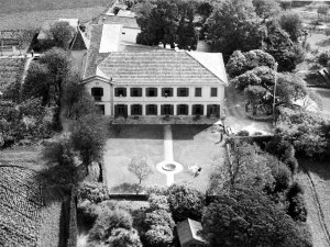 Aerial view of garden front, 1964.