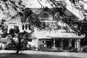 Garden front, 1964.
