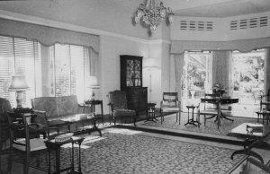 Drawing room, towards the garden door, 1964.
