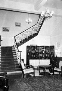 Main stair, 1964.