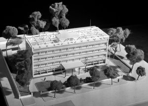 Model of the proposed Saigon offices, 1960.