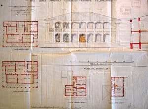 Marshall's early proposal for a new consul-general's house and Assistant's quarters, 1889.