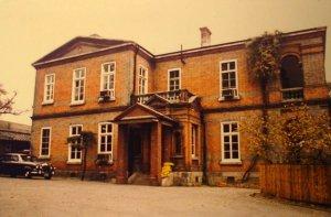 Residence entrance, 1970s.