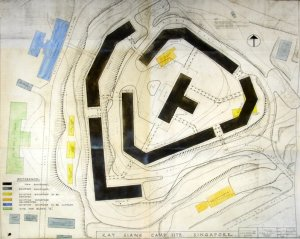 Palmer and Turner plan of staff residential accommodation at Phoenix Park, 1946.