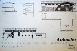 Drawing of proposed residence, 1951.
