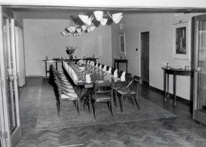 Dining room, 1954.