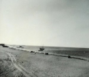 Agency site, looking towards village, 1954.