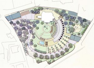 Plan of residence and office grounds, 2008.