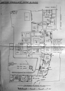 Ground floor plan, with extensions, late 1920s.