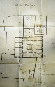 Early ground floor plan of offices, marked up by Boyce in 1896.