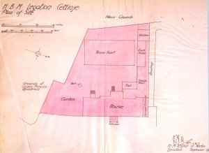 Siteplan of proposed legation, 1912.