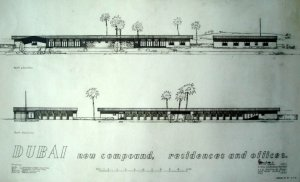 Drawing of proposed agency building, 1948.