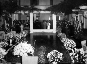 Coronation party at the residence, 1952.