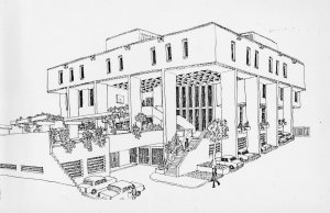 Development sketch by John Watts, 1981,