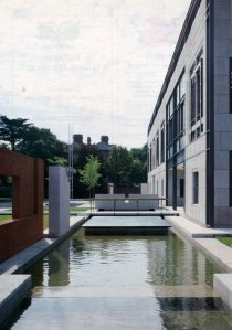 The moat across the office front, 1995.