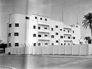 Rear view of same building - flats??? 1951 photo.