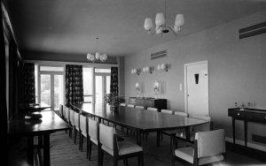 Dining room, 1956.