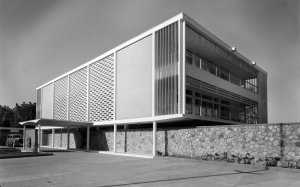 Entrance frontage, 1962.