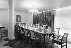 Dining room, 1962.