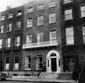 39 Merrion Square, after restoration after fire, 1972.