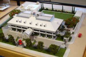 Presentation model of new offices, 1991.
