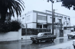 New offices on ? Boulevard de la Tour Hassan, late 1970s.