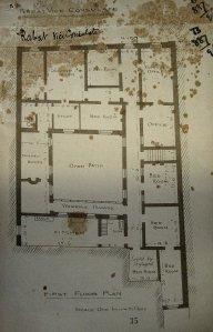 First floor plan, 1890s.