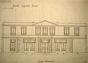 Proposed elevation for new legation, 1890.