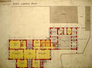 Proposed ground floor plan for new legation, 1889.