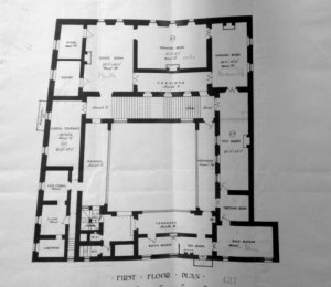 First floor plan, 1906.