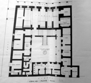 Ground floor plan of consulate building, 1906.